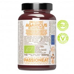 Agaricus fungo europeo Bio in capsule veg - 140 capsule da 500mg
