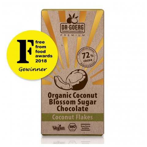 Tavoletta cioccolato bio 72% con Scaglie di Cocco