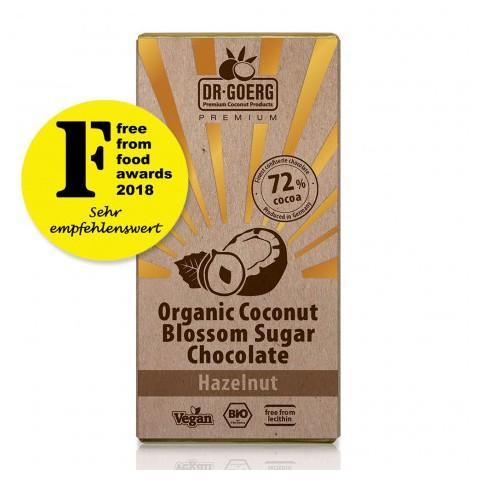 Tavoletta cioccolato bio 72% con Nocciole