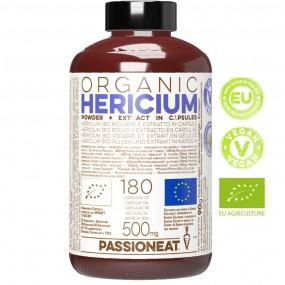 Hericium erinaceus fungo Bio europeo - polvere e estratto - 180 capsule veg da 500mg