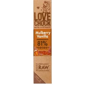 Tavoletta Cioccolato Fondente 81% More di gelso & Vaniglia 40g