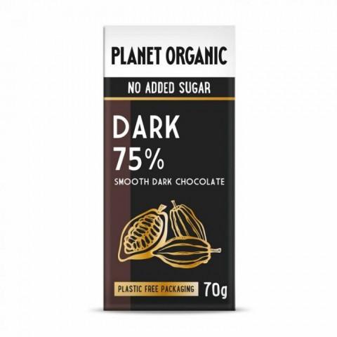 Tavoletta Cioccolato fondente bio senza zucchero 70g